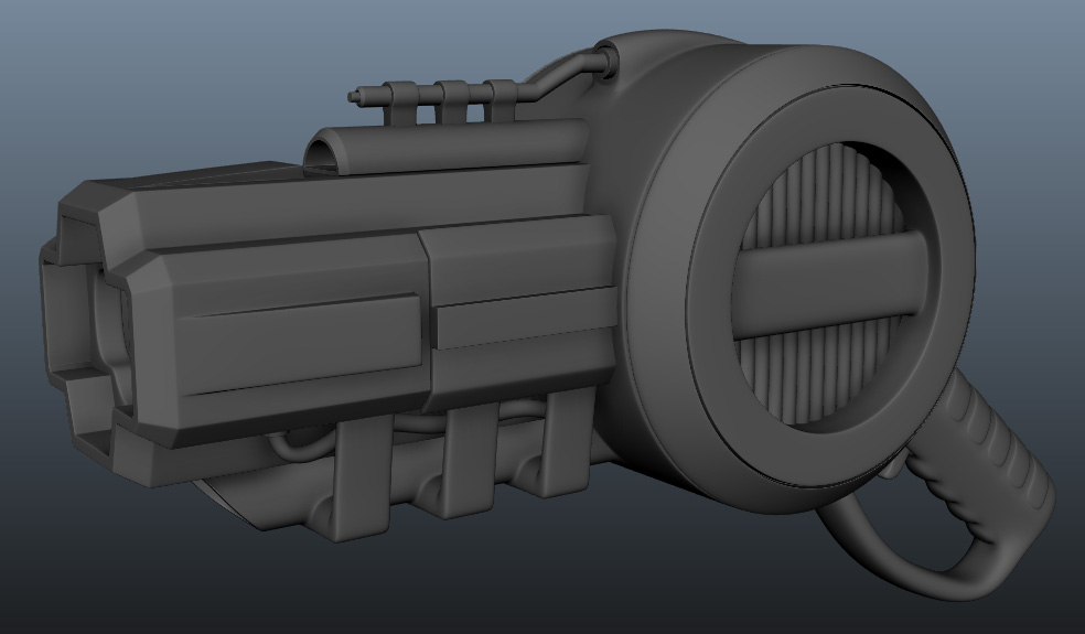 Stun Gun High Poly Model